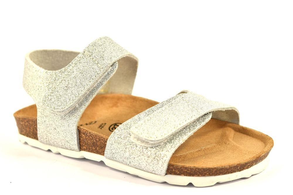 lowest price 12f53 b5b15 Dettagli su GRUNLAND LUCE SB0091 40 ARGENTO Glitter Sandalo ...