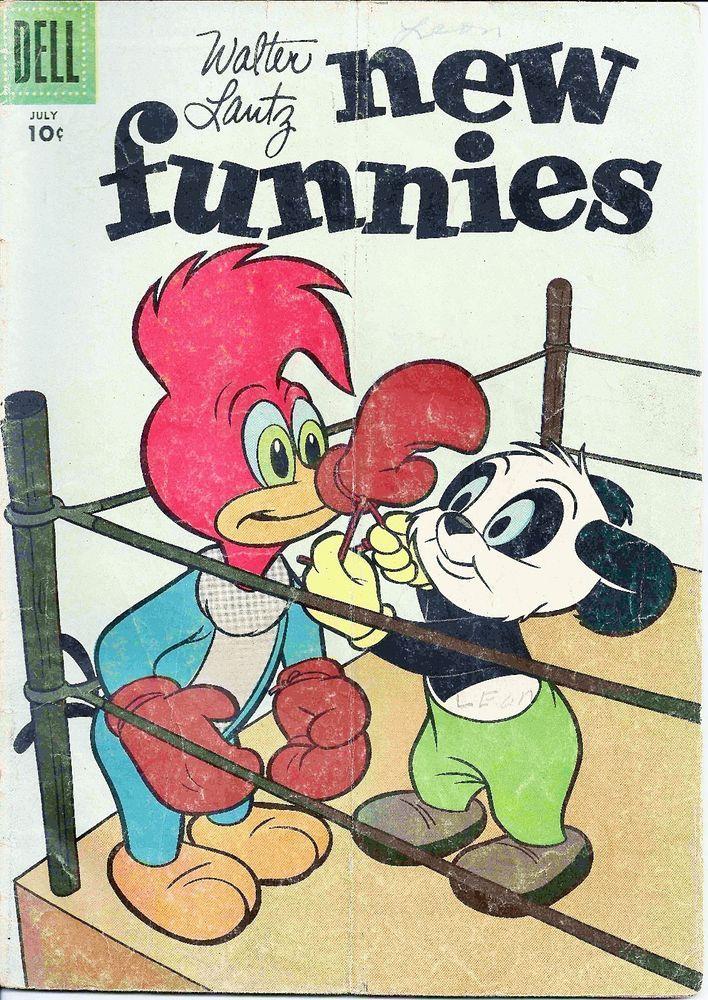 Walter Lantz New Funnies Old Comic Book Woody Woodpecker Jul. 1957 Vol. 1 #245