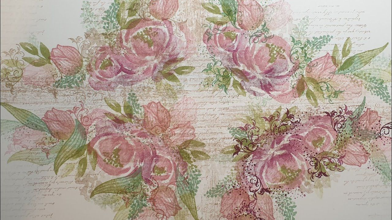 🔴 SHABBY CHIC style STAMPING roses and tulips #shabbychic #onesheetwonder #cardmaking #stampinup - YouTube