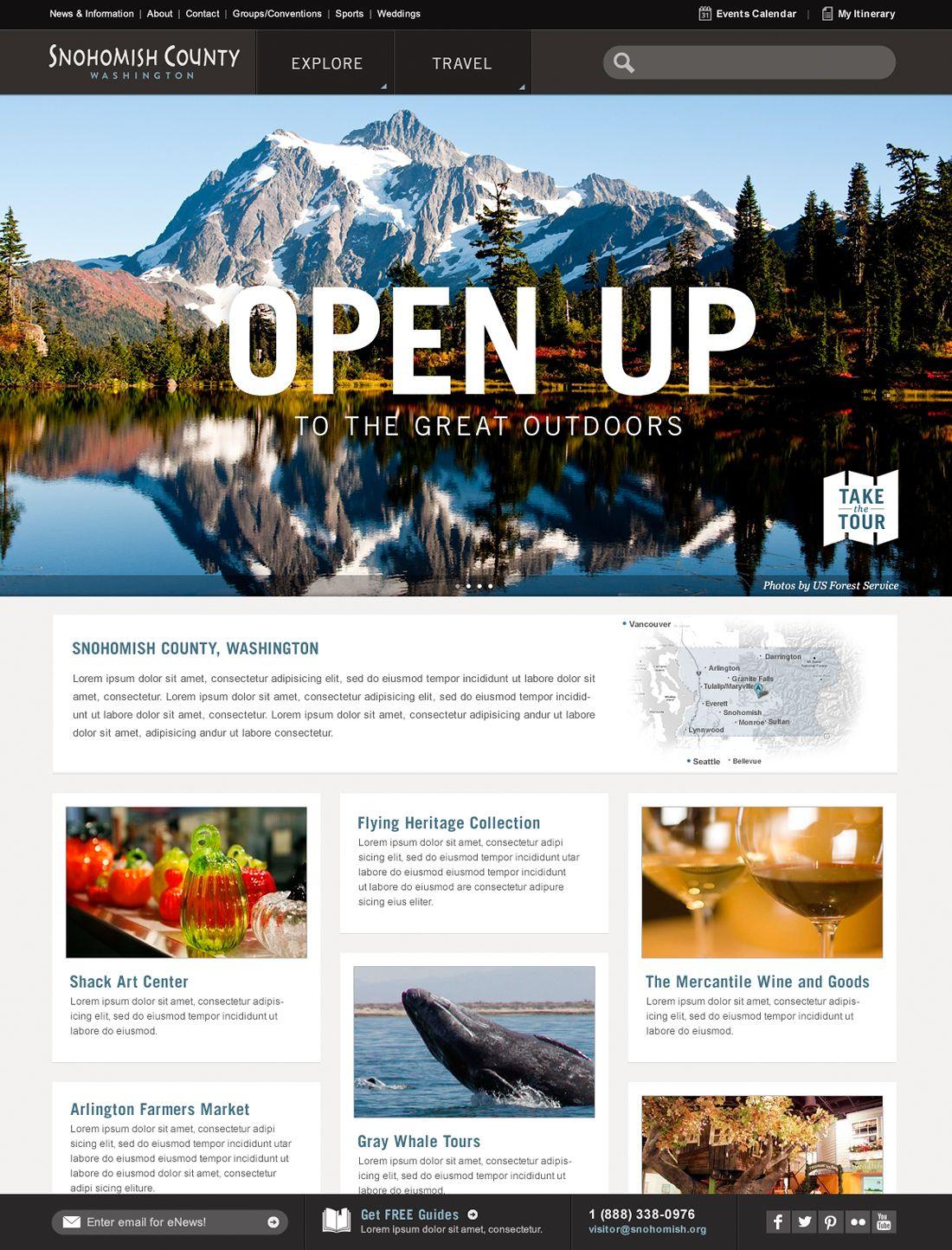 Web snohomish county homepage design showcase design