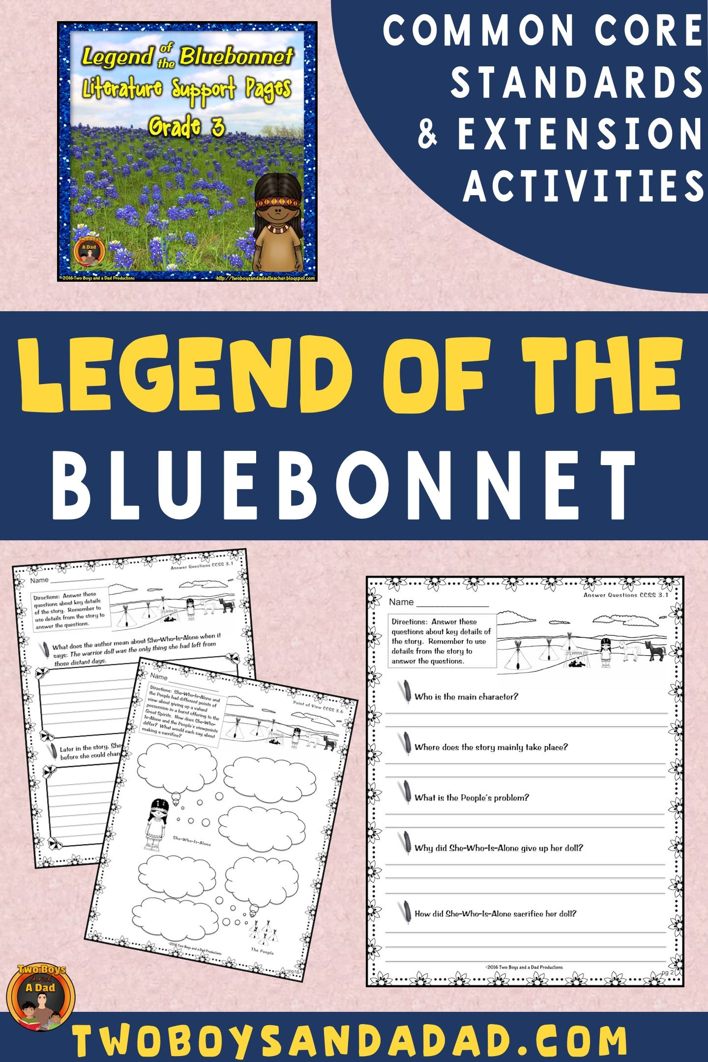 Legend Of The Bluebonnet Literature Standards Support