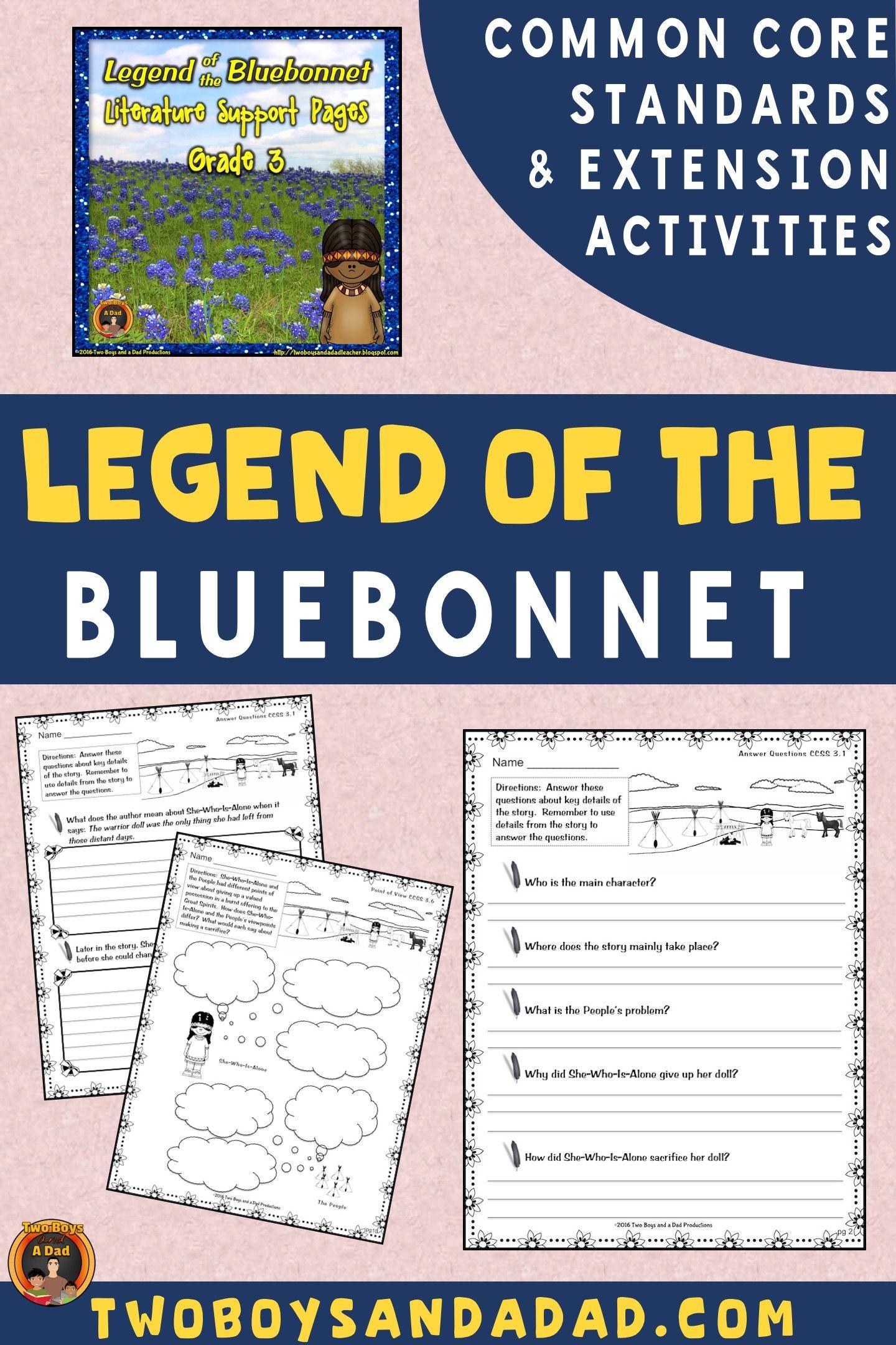 Legend Of The Bluebonnet Literature Standards Support