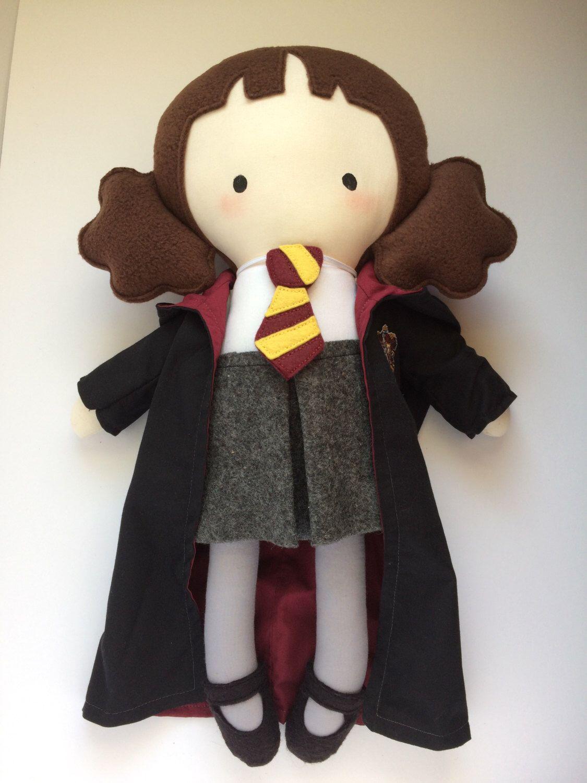 Hermione Granger Doll - Handmade Doll - Cloth Doll - Geek Doll ...