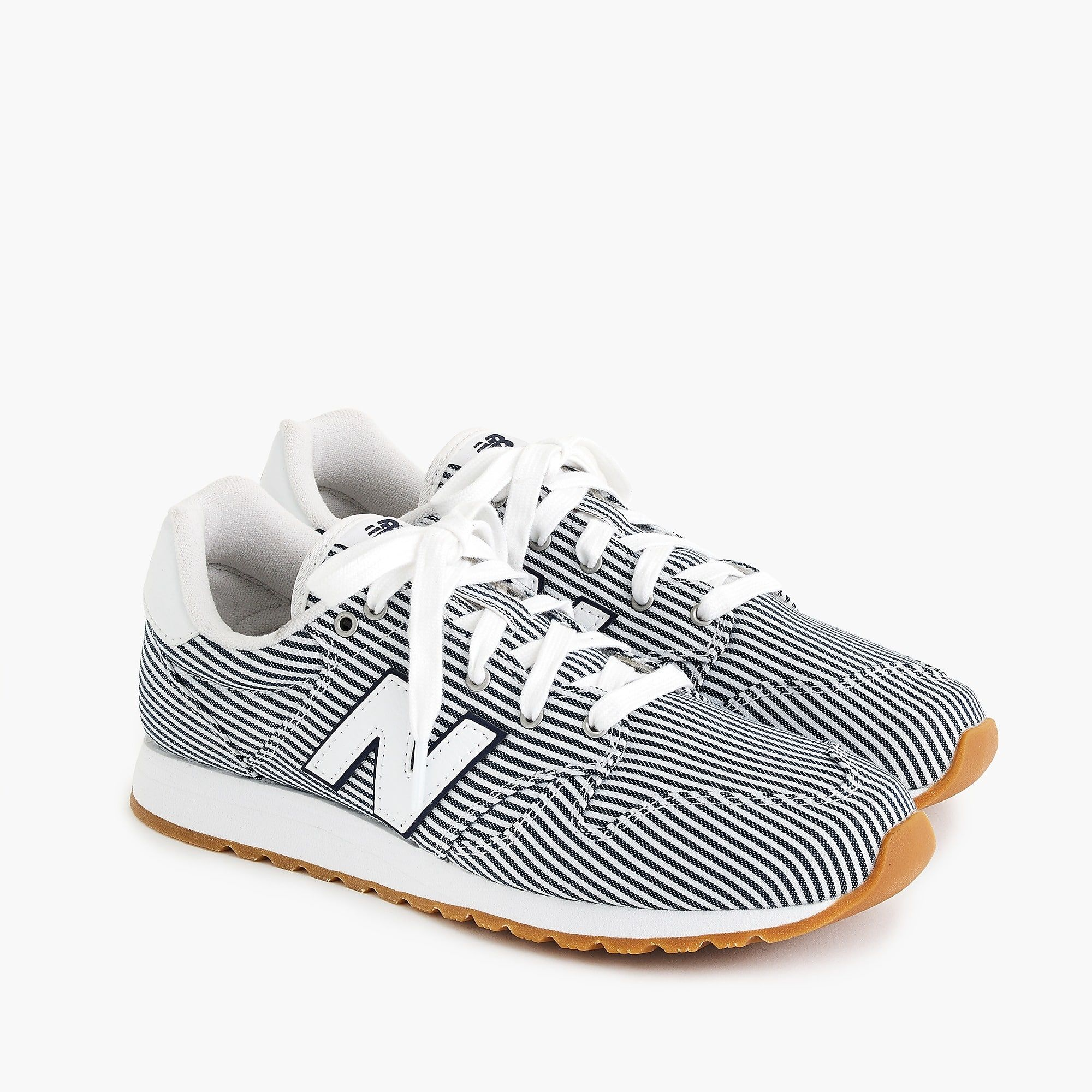 Women s New Balance for J.Crew 520 sneakers     shoes  stripes ... 776df919d