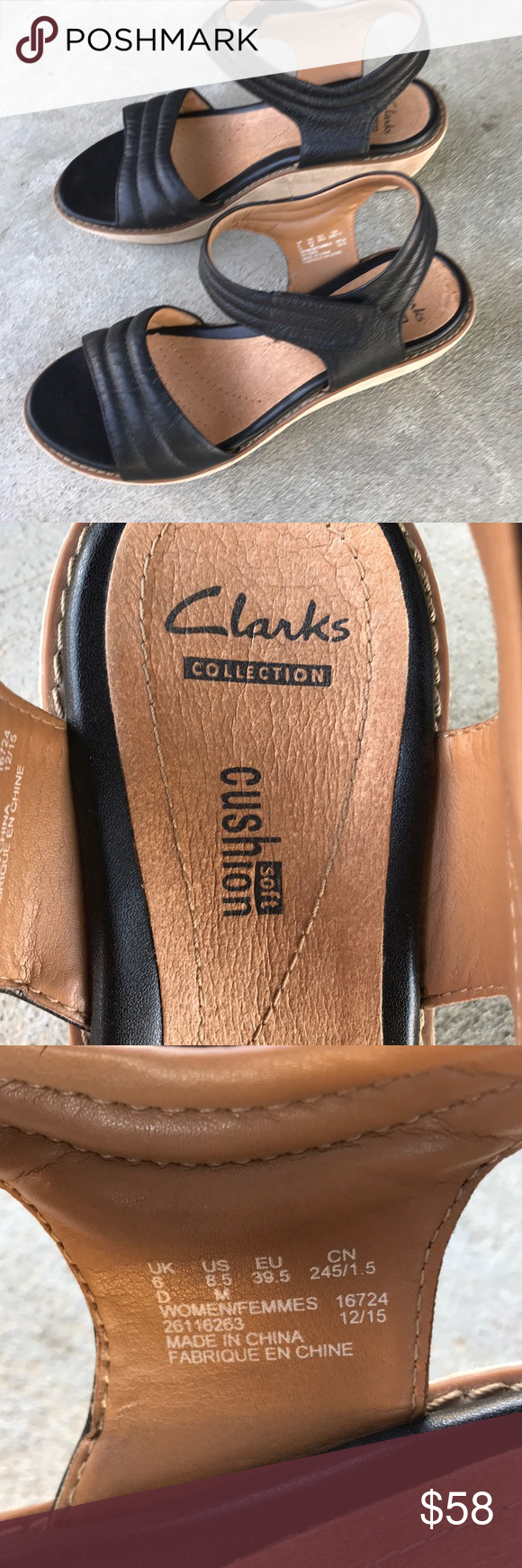 Clarks Collection Soft Cushion Wedges 8