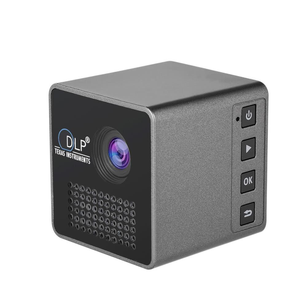 USB Ultramini DLP Projector 1080P HD Beamer 70/'/' Screen 64G TF Card Home Travel