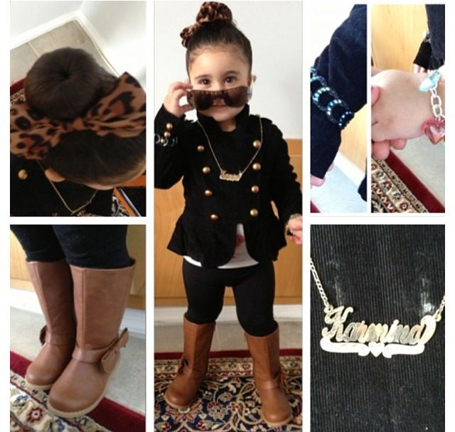 Stylish kids (minus the necklace)