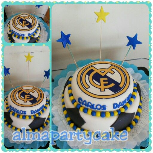 Torta real madrid ethan birthday pinterest cumple tortilla y fondant - Decoracion madrid ...