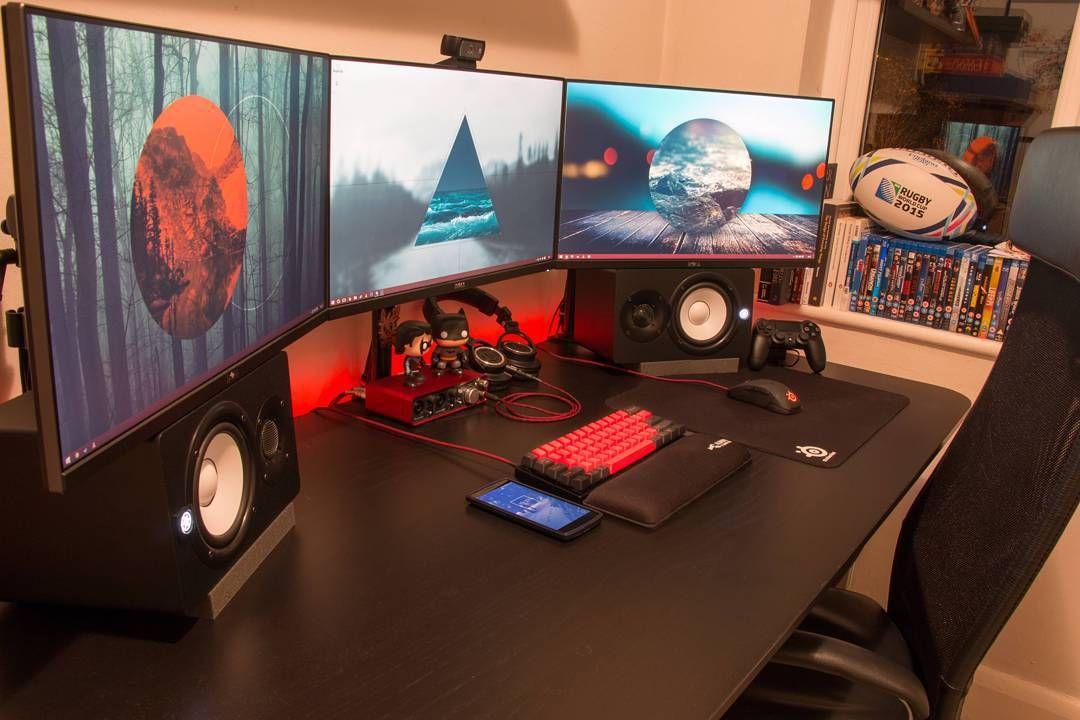 Gaming Desks Gaming Room Setup Gamer Room Diy Gamer Room