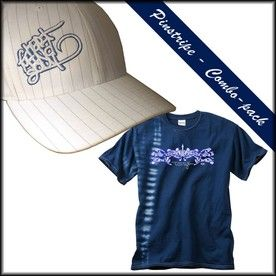 73fa9d093b566 Pinstripe embroidered hat and screen printed tie dye t shirt combo pack  from Hart Mind Soul - Portland