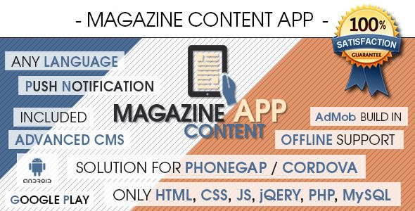 Download CodeCanyon Magazine Content App With CMS Android  AdMob - Spreadsheet Free Download For Android