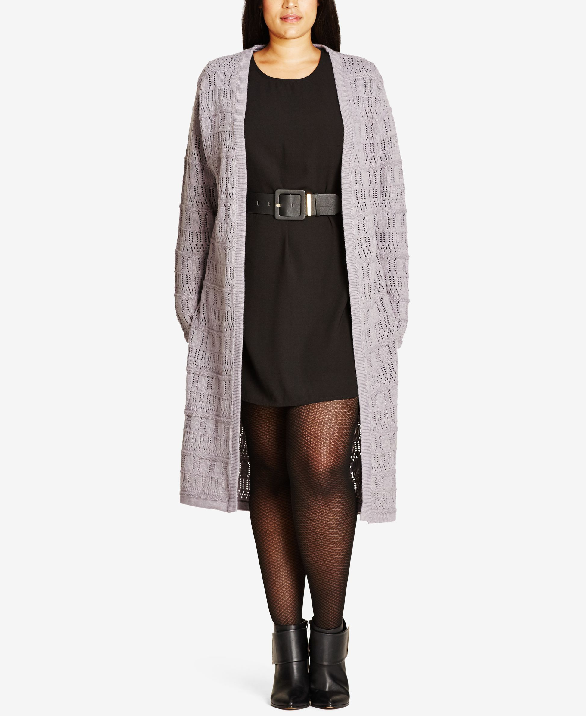 City Chic Trendy Plus Size Pointelle Duster Cardigan | Products ...