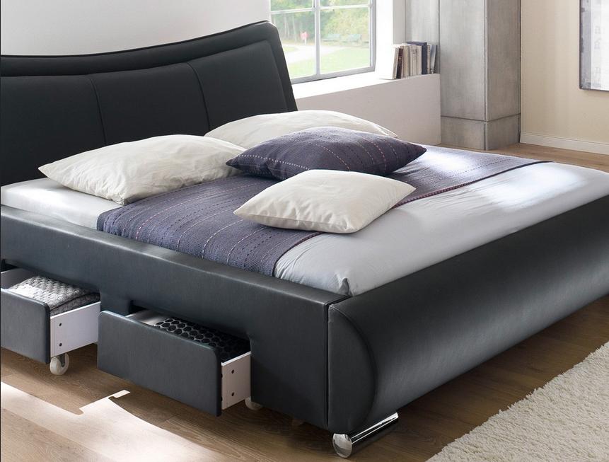 Schlafzimmer-komplett-mit-lattenrost-und-matratze-Bettwäsche-schwarz ...
