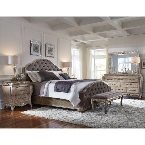 Pulaski Rhianna 8 Drawer Dresser with Optional Mirror, Silver in