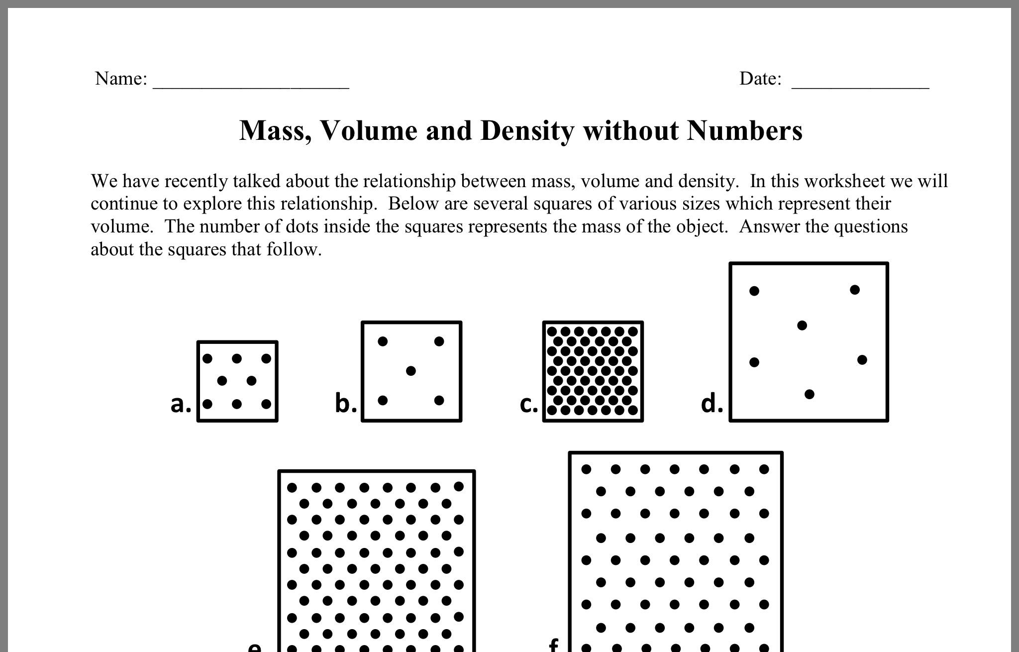 Pin By Jessica Lowery On Pedagogia 6th Grade Science Density Worksheet Lessons Template