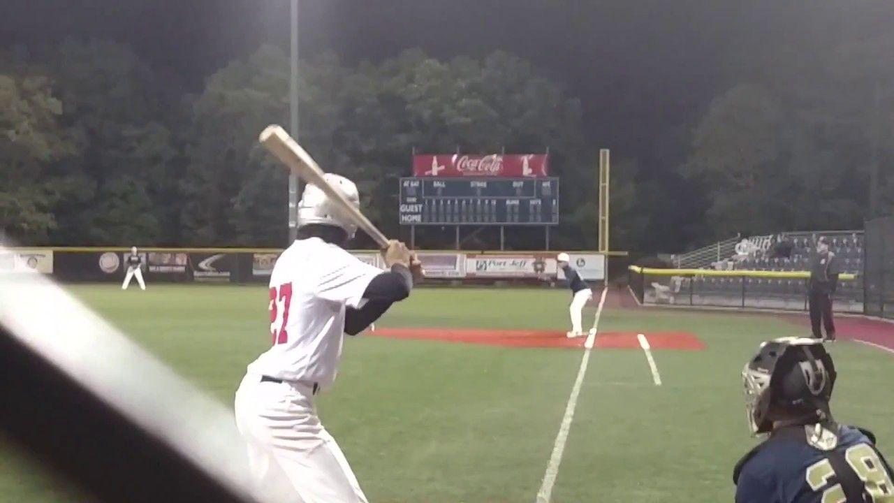 Robert Ray Taking Second And Third At Columbus Day 18u Wood Bat Champioship Wood Bat Soccer Field Baseball Field