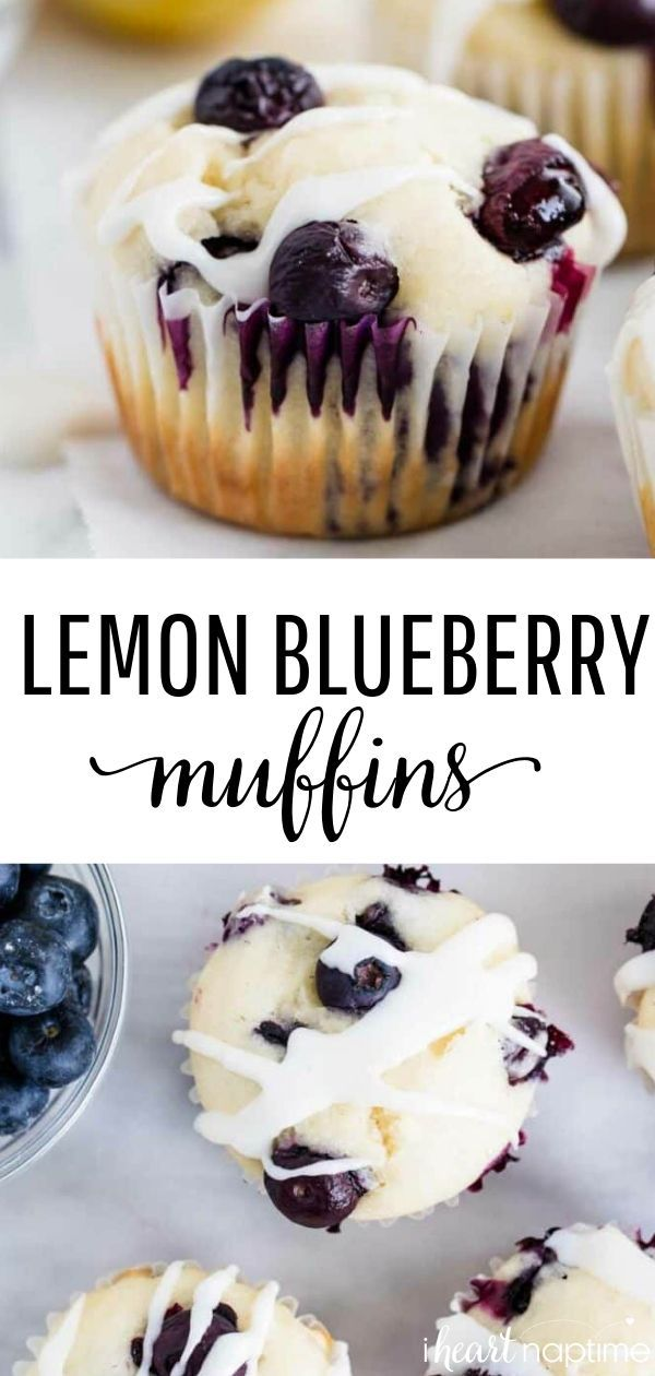Lemon Blueberry Muffins - Soft and moist muffins bursting with fresh blueberries and lemon flavor.
