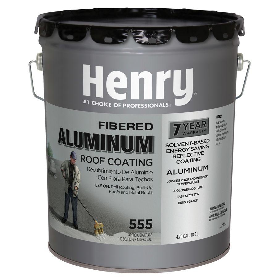 Henry Company Fibered Aluminum 4 75 Gallon Aluminum Reflective Roof Coating 7 Year Limited Warranty Lowes Com In 2020 Roof Coating Aluminum Roof Metal Roof Coating