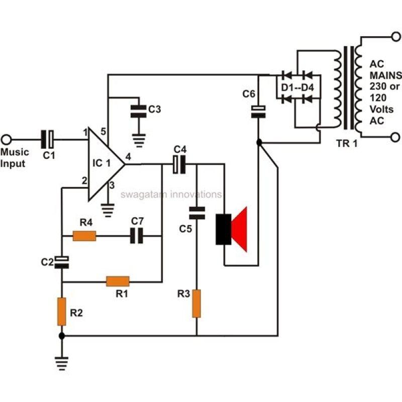 Pin di circuit diagram