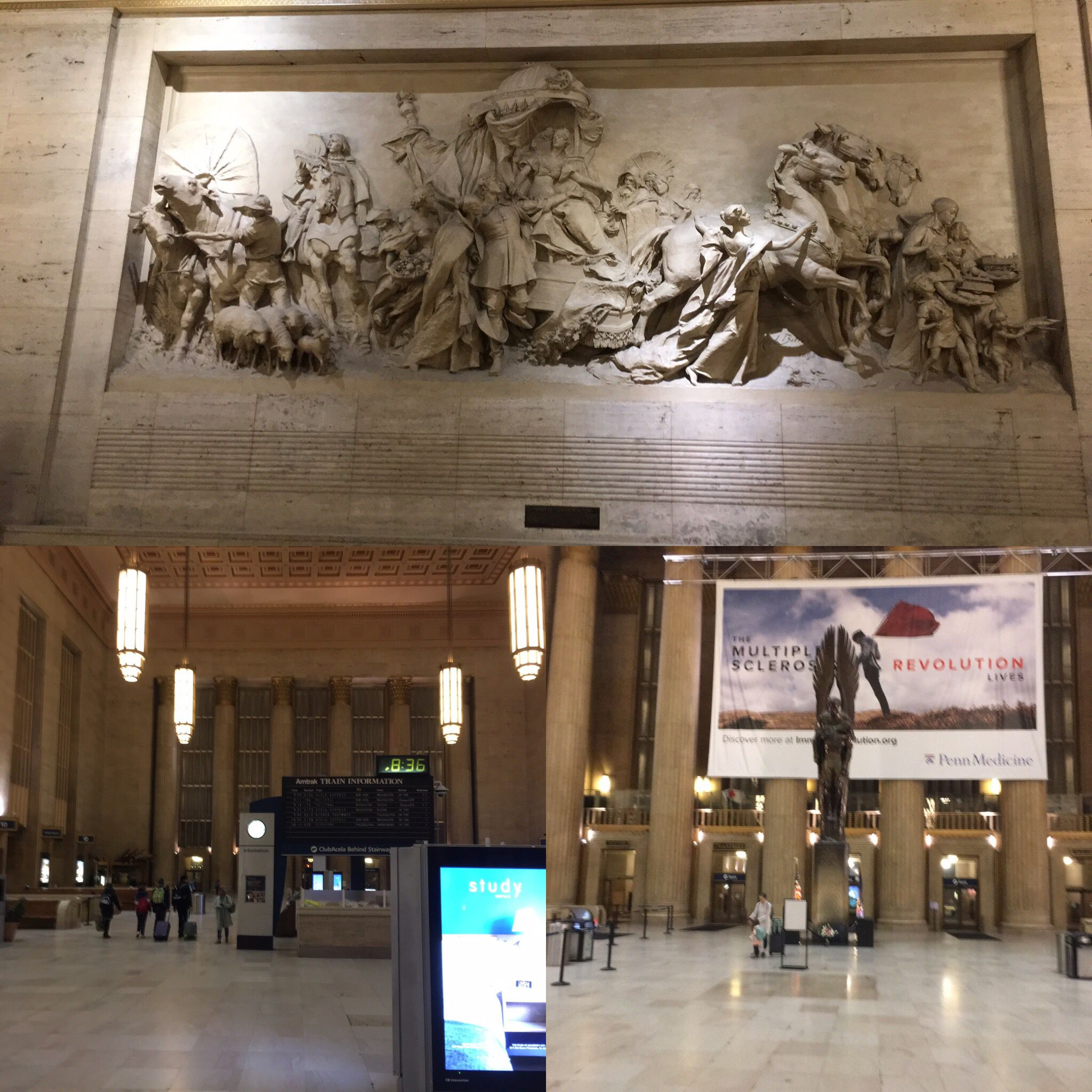 The Philadelphia Train Station  What an amazing building