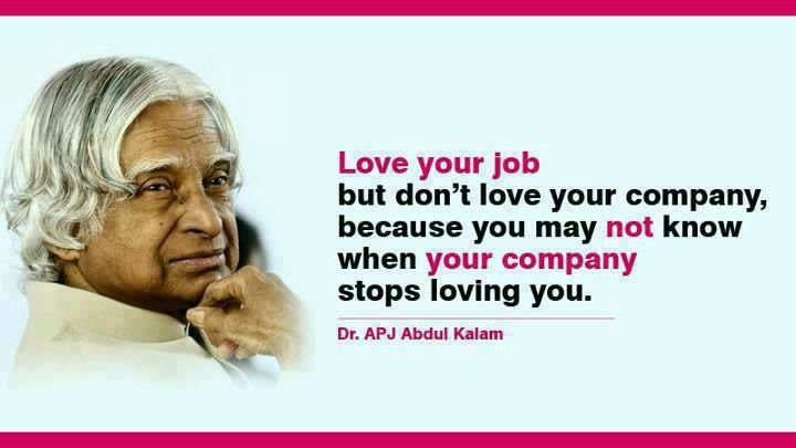 """Love your job but don't love your company, because you ..."