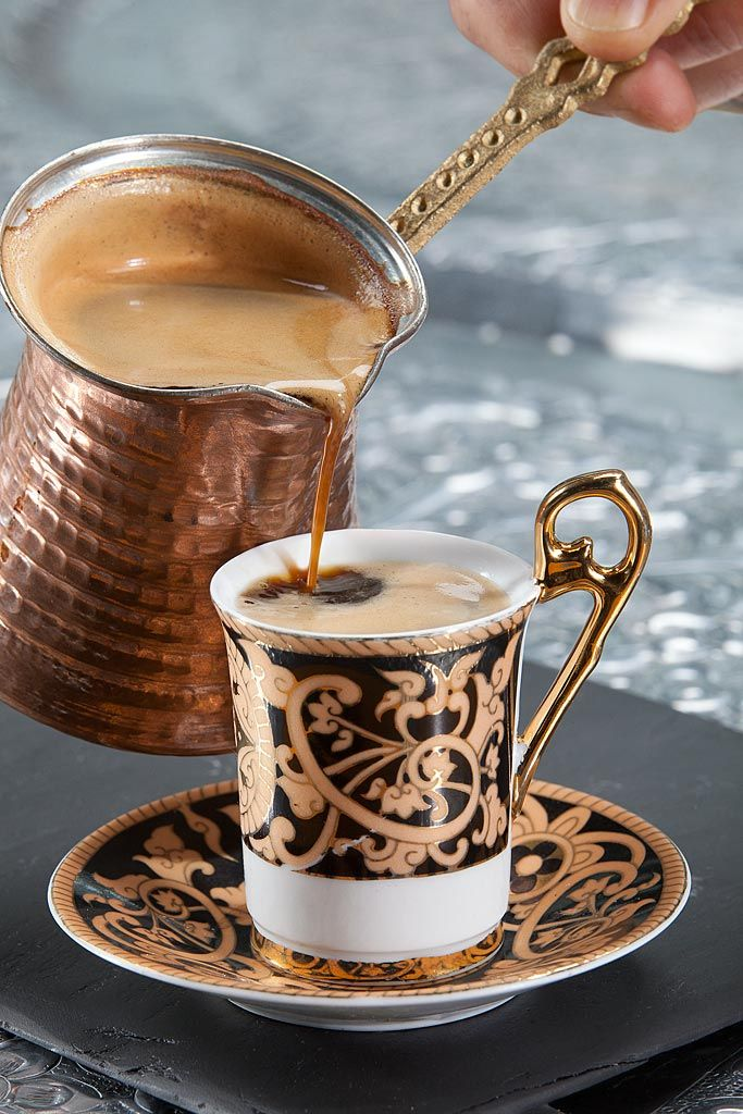 Turkish coffee is a method of preparing coffee which is roasted & then finely ground coffee beans are boiled in a pot with sugar, & served in a cup where the grounds are allowed to settle. Turkish coffee is normally prepared using a narrow-topped small boiling pot called a kanaka, a teaspoon & a heating apparatus.