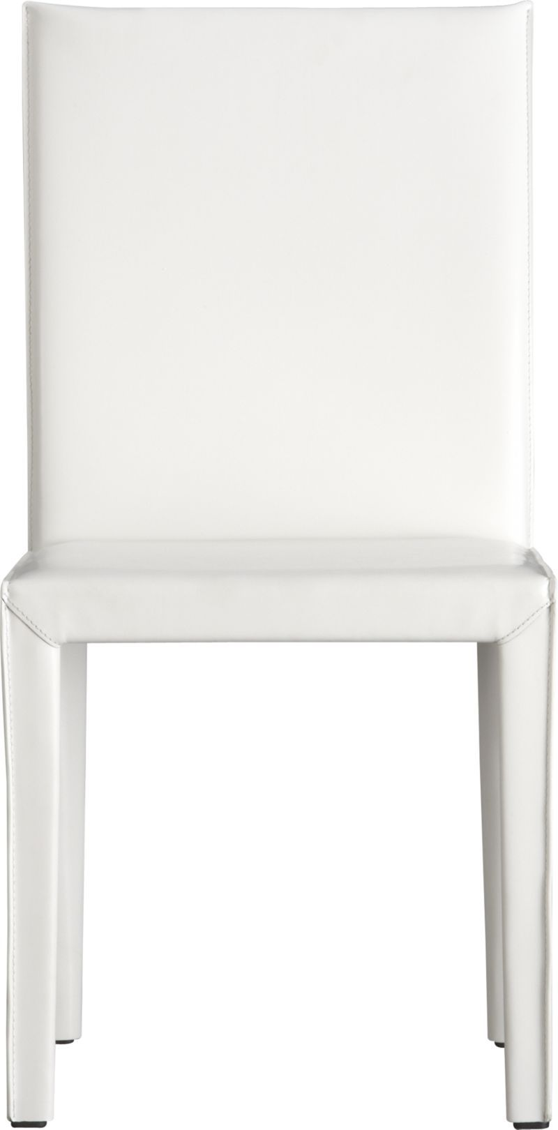 Folio White Bonded Leather Side Chair | Crate and Barrel | Dining ...