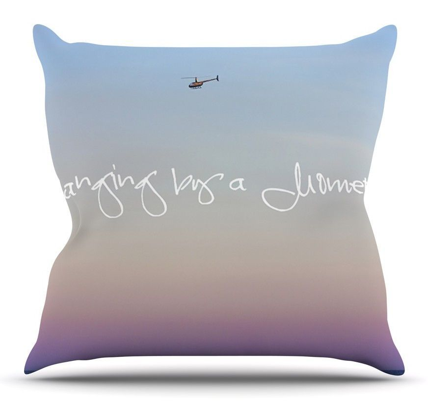 Hanging By A Moment by Beth Engel Outdoor Throw Pillow