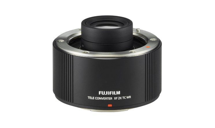 Fujinon XF2X TC WR    Multiplies focal length of FUJINON XF50-140mmF2.8 R LM OIS WR and FUJINON XF100-400mmF4.5-5.6 R LM OIS WR by 2x  Weather-resistant design for weather- and dust-resistance and operation in conditions as low as 14 Degree Fahrenheit  Uses 9 elements in 5 groups  Does not affect lens AF speed  Camera displays and records information reflecting the change in aperture and focal length when theteleconverter is mo..