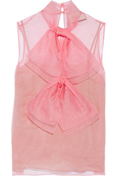 a5bcf3c672364b GUCCI Pink silk-chiffon Button fastening at back 100% silk  lining  90% silk