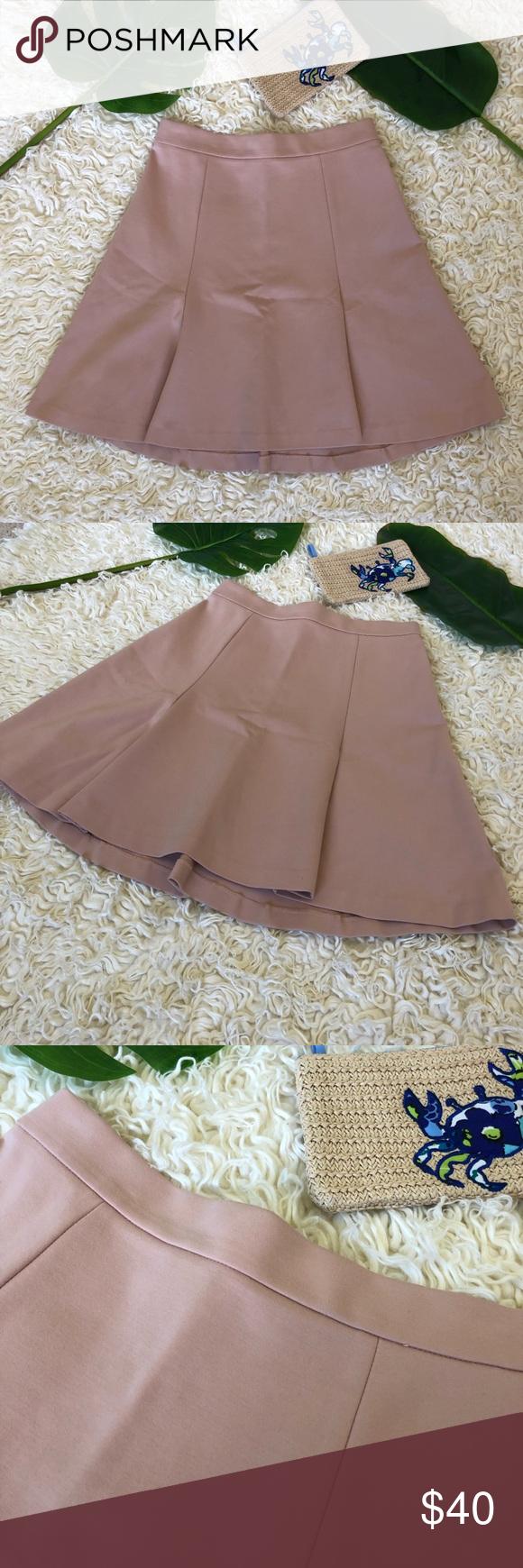 J Crew Blush Pleated A Line Skirt Chic Clothing Style Blush Skirt Fashion
