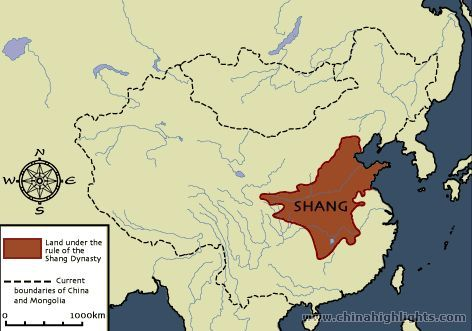 Show Map Of China.The Shang Dynasty Map Ancient China Maps China Highlights The