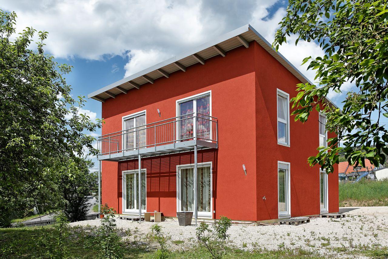 Das Pultdachhaus Ist Klein Aber Fein Die Rotbraune Fassade Mit Den