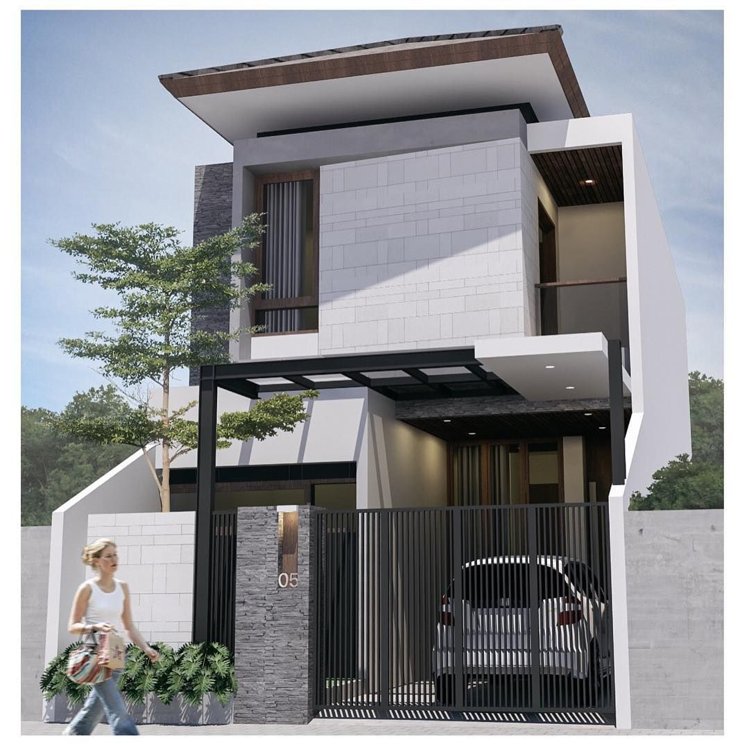 Foto Desain Rumah Minimalis Modern 2 Lantai  Arsitektur