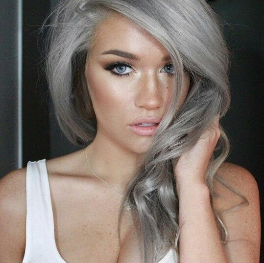 20 Hot Color Hair Trends Summer hair Silver hair and Hair coloring
