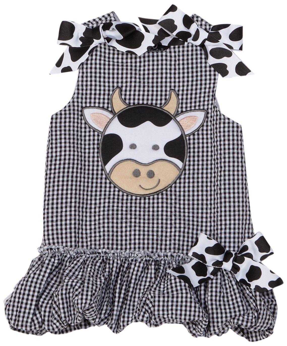 Mud Pie Baby Girls Gingham Flutter Sleeve Bubble Romper Playwear