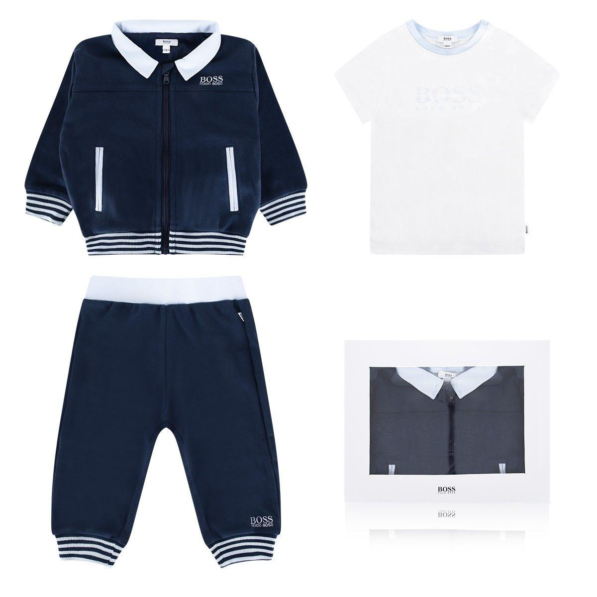 89a3999d328f BOSS Baby Boys Navy Tracksuit   Jersey Top Gift Set (3 Piece ...