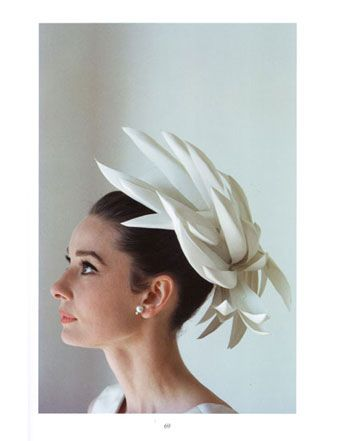 Audrey Hepburn's Hat Fashion. Photo taken by renowned photographer Howell Conant featuring Audrey Hepburn wearing some glamorous and fashionable hats.
