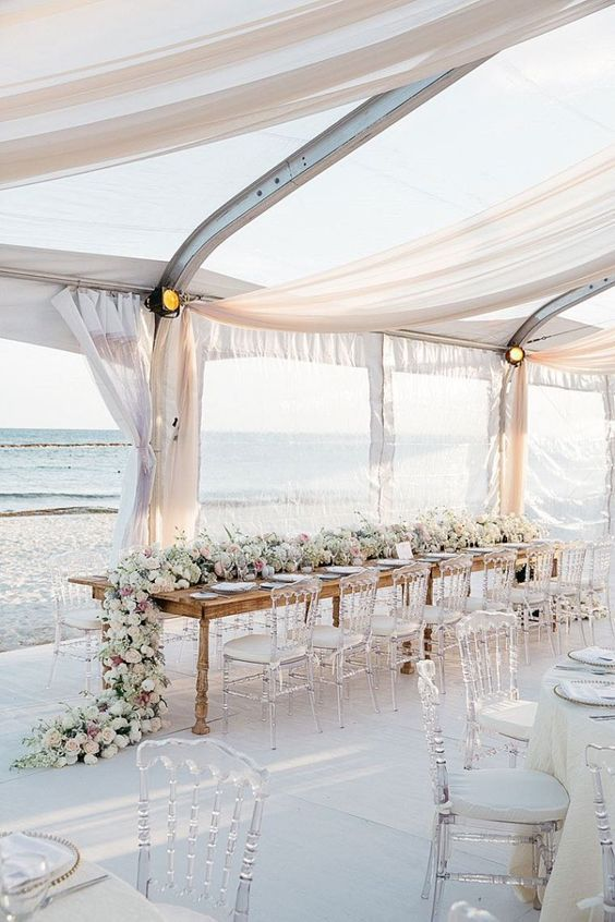 How To Plan A Beach Themed Wedding Ceremony Wedding Tent
