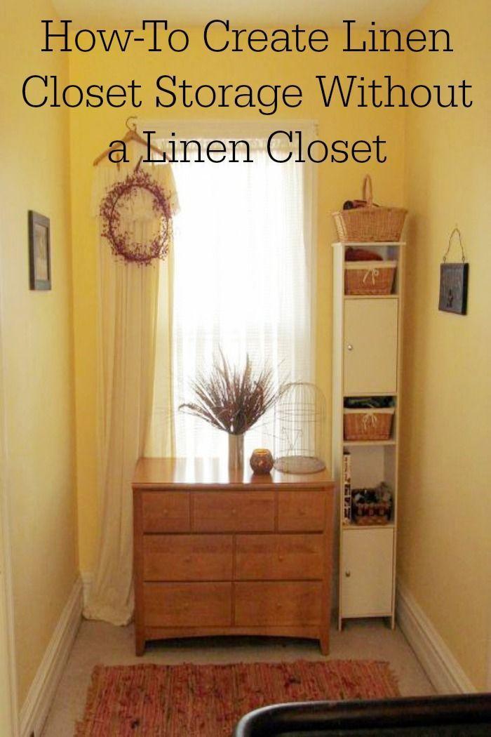 Genial No Linen Closet ? No Problem ! How To Create Linen Closet Storage Space  Without The Closet ! Genius !