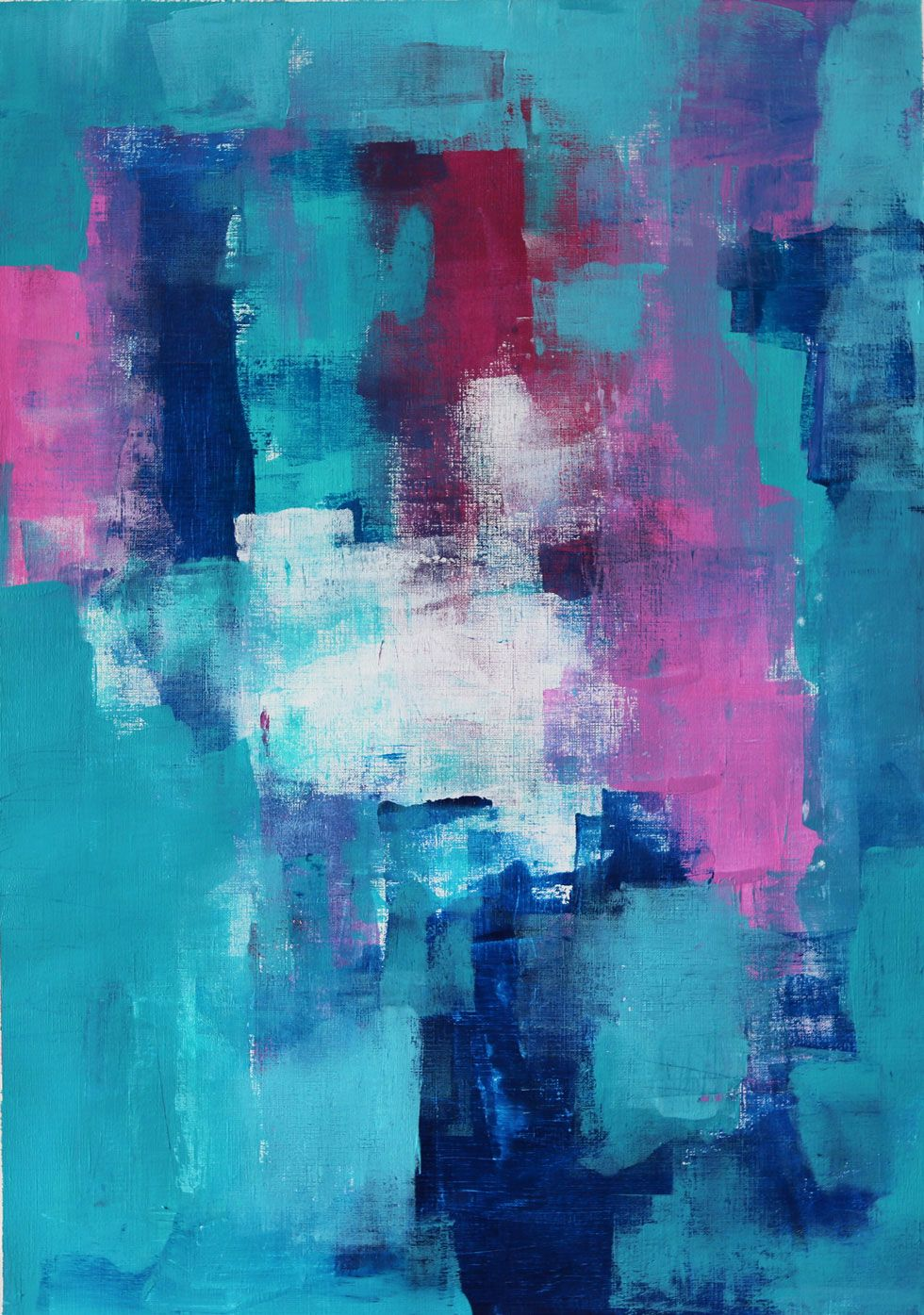 Abstract Gemstone Color Scheme Painting
