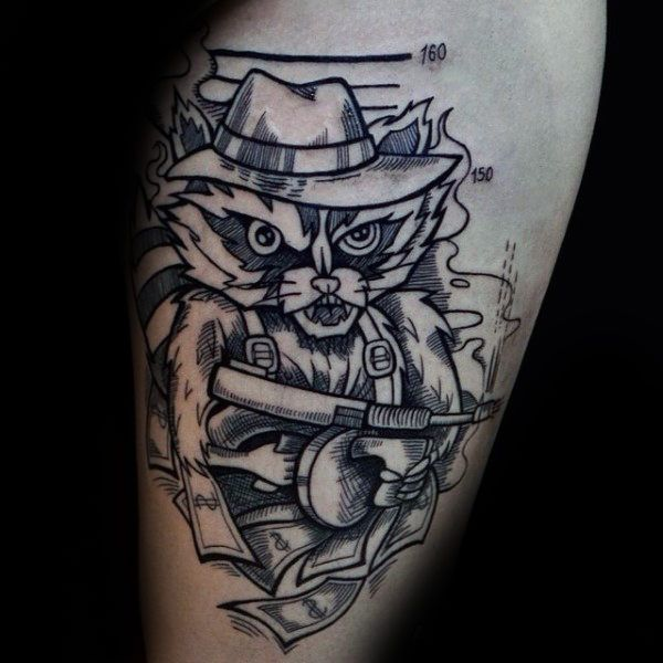 Photo of 80 Raccoon Tattoo Designs For Men – Critter Ink Ideas