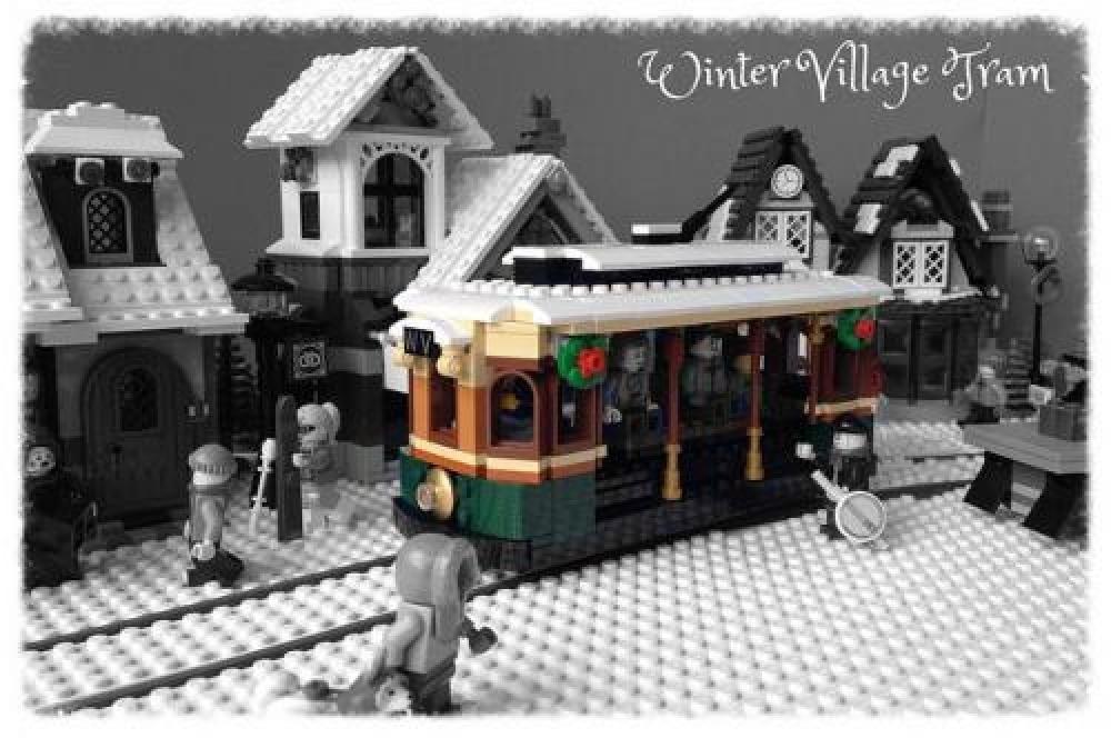 Lego Moc Moc 3741 Winter Village Tram Building Instructions And