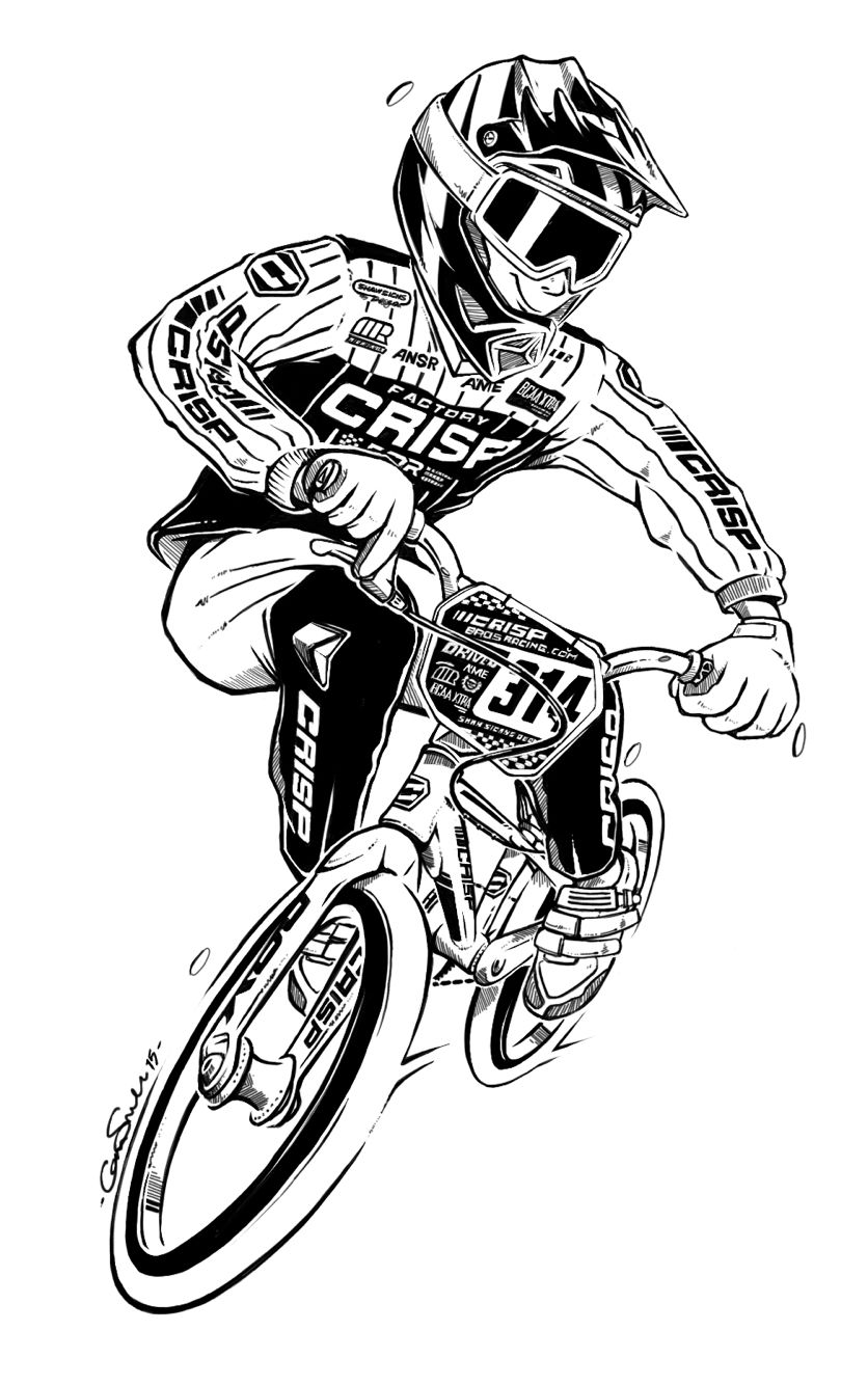 Bmx Cartoon Art By Cam Small Inspired By The Love Of Bmx And