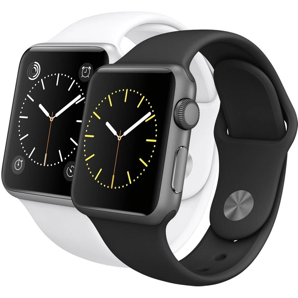 Apple Watch Sport A1554 4j3u2z A 42mm Smartwatch Edelstahl Stainless Steel Wow Apfeluhr Edelstahl Ebay