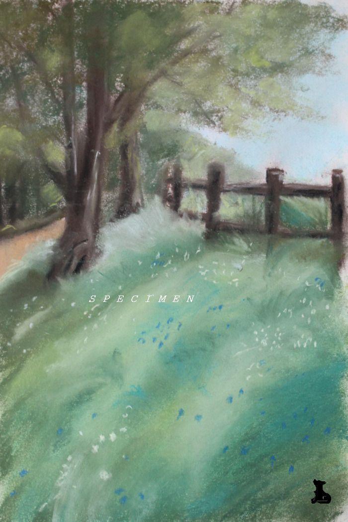 Dessin Paysage De Campagne Au Pastel Sec Peintures Par