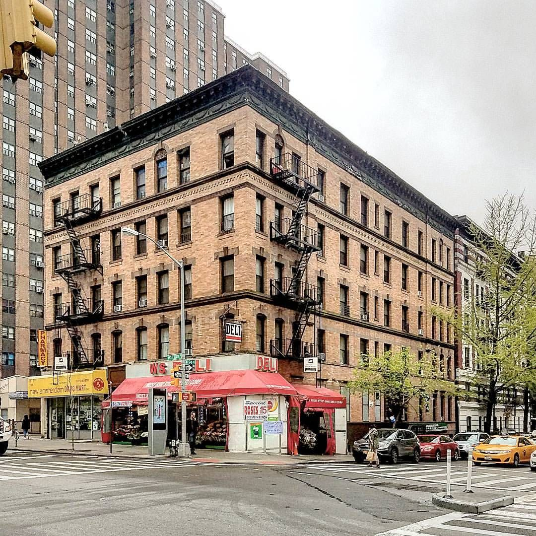 An Apartment House And Storefronts On The Upper West Side