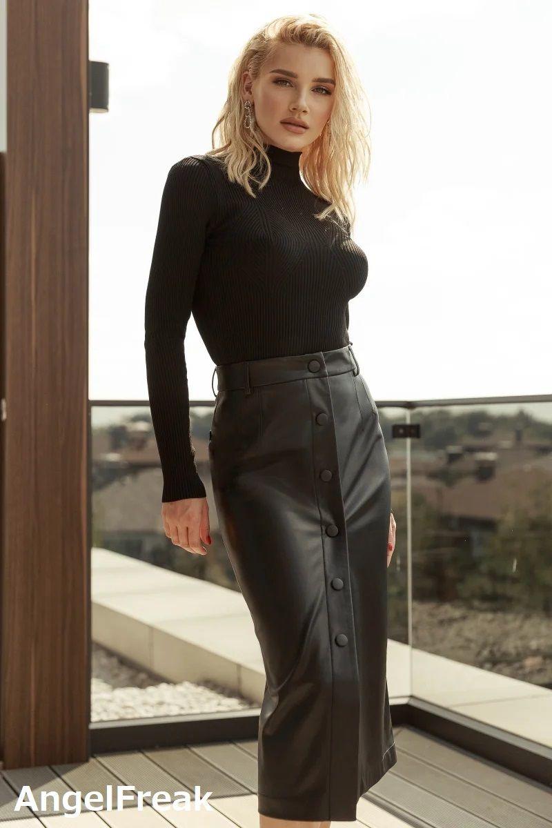 Pin von hạnh auf LeatherSkirt in 2020 | Lederrock, Mode
