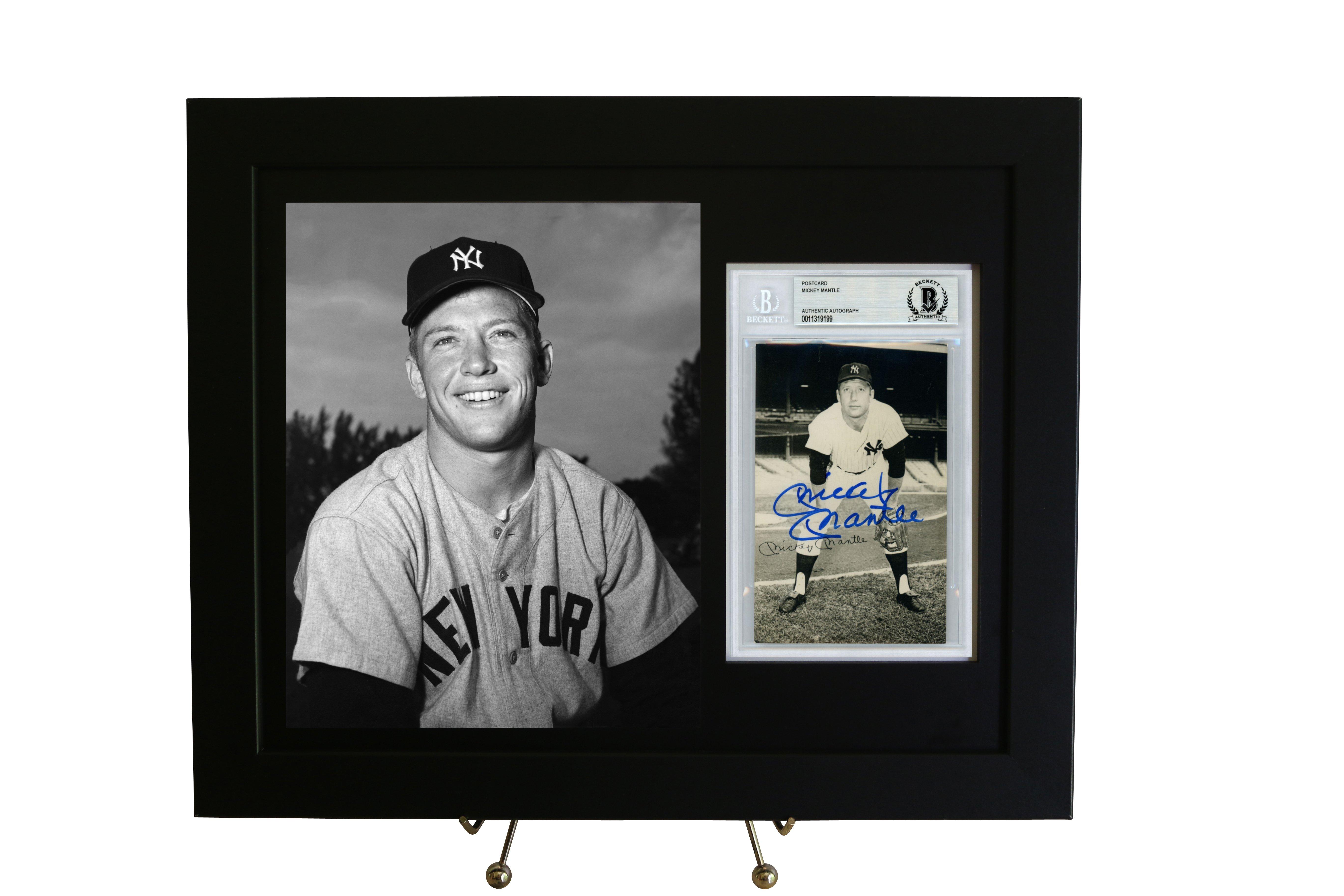 Framed Display For A Beckett Slabbed Postcard W 8x10 Vertical Photo Opening Frame Display Frame Framed Postcards
