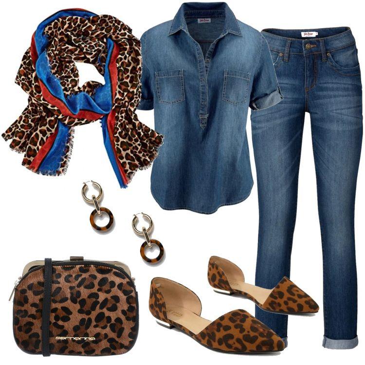 buy online 75abb e07f1 Outfit Le ballerine animalier | abbinamenti vestiti nel 2019 ...